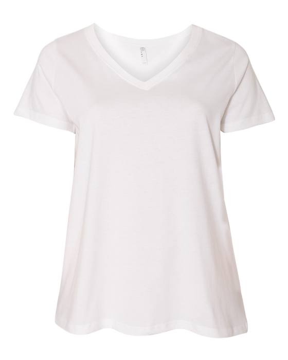3807 Ladies Curvy Collection V-Neck Tee