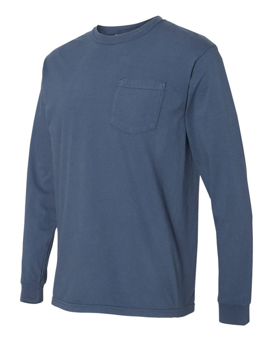 4410 Garment Dyed Heavyweight Ringspun Long Sleeve Pocket Tee