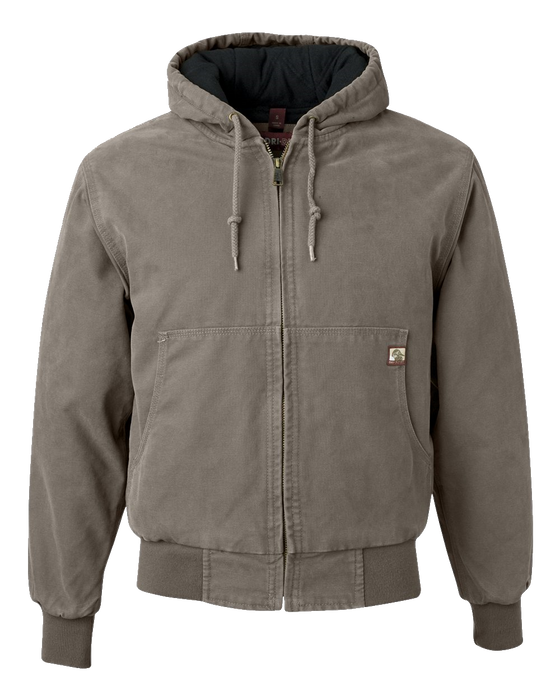 5020 Mens Hooded Lined Boulder Cloth Jacket