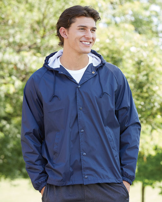 3102 Hooded Coaches Jacket