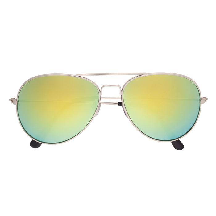 6245 Color Mirrored Aviator Sunglasses