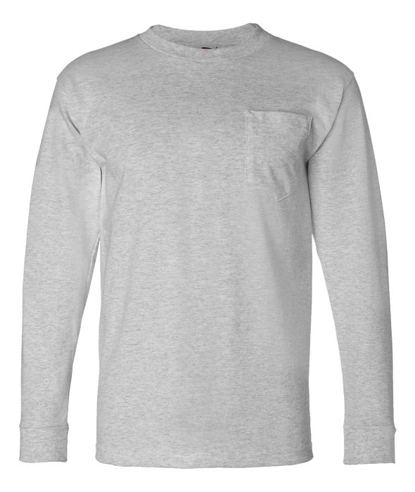8100 USA-Made Long Sleeve Pocket Tee