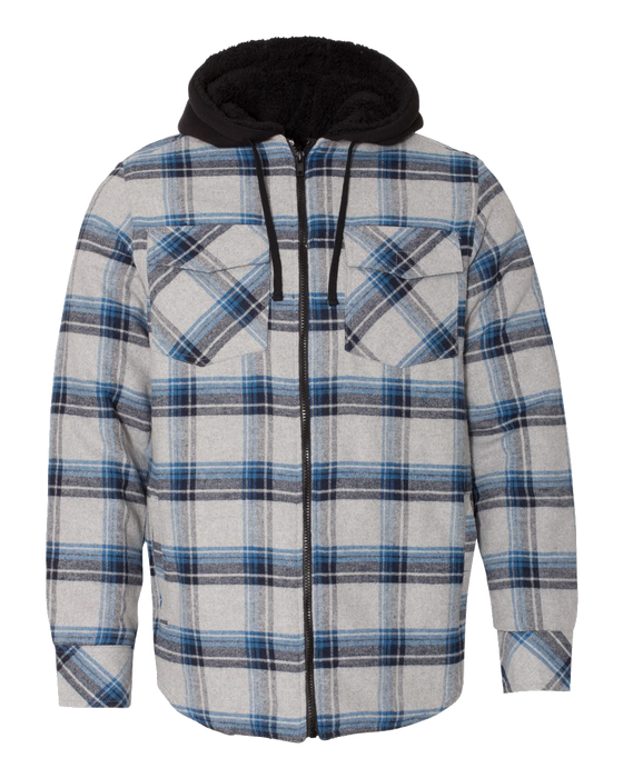 8620 Quilted Flannel Hooded Jacket