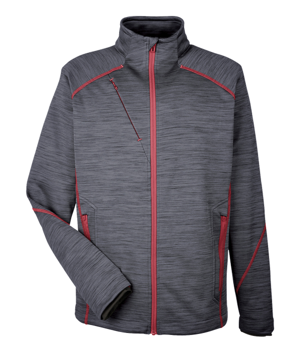 88697 Mens Flux Melange Bonded Fleece Jacket