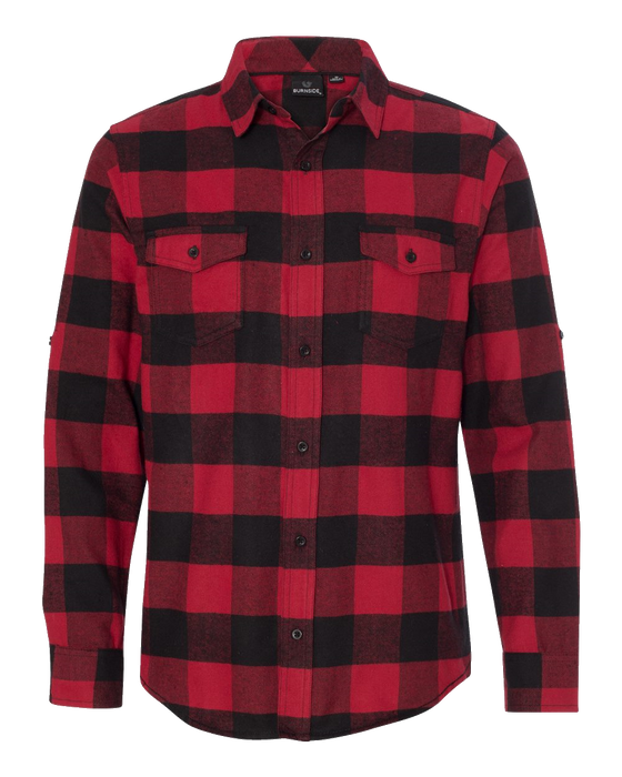 8210 Men's Yarn-Dyed Long Sleeve Flannel Shirt