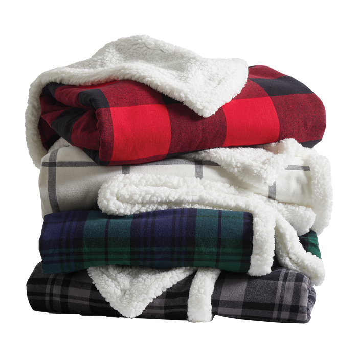 BP43 Flannel Sherpa Blanket