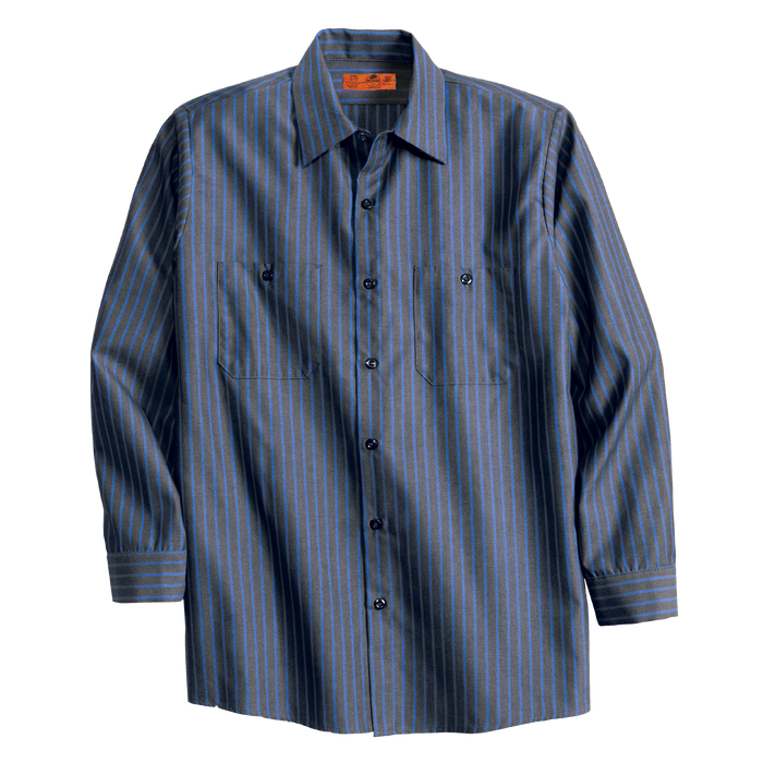 CS10 Long Sleeve Stripe Industrial Work Shirt