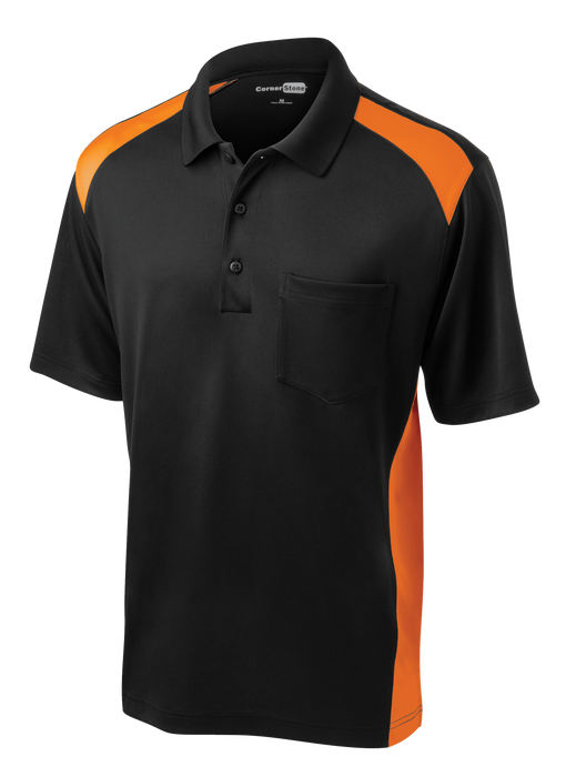 CS416 Men's Snag-Proof Two Way Colorblock Pocket Polo