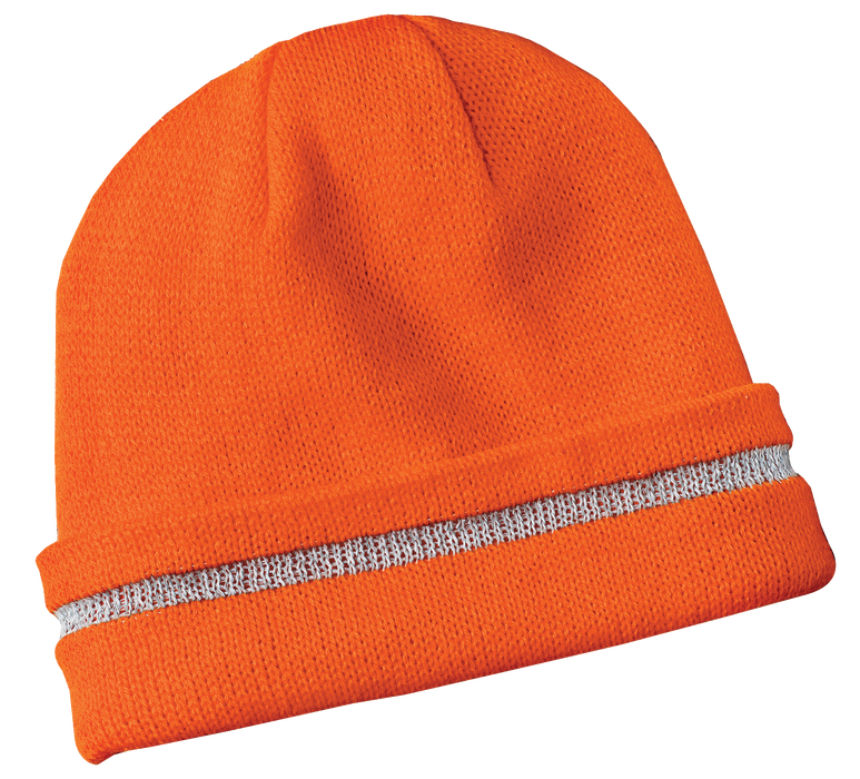 CS800 Enhanced Visibility Beanie with Reflective Stripe