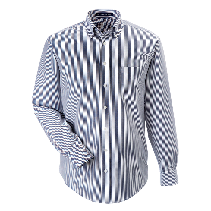 D645 Mens Crown Collection Banker Stripe Shirt