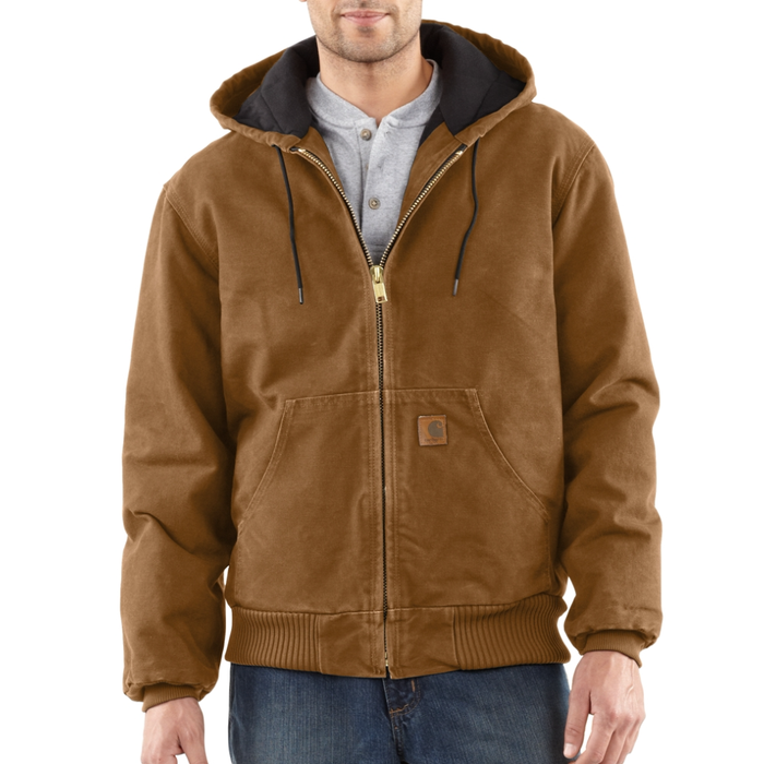J130 Mens Quilted Flannel Lined Sandstone Active Jacket