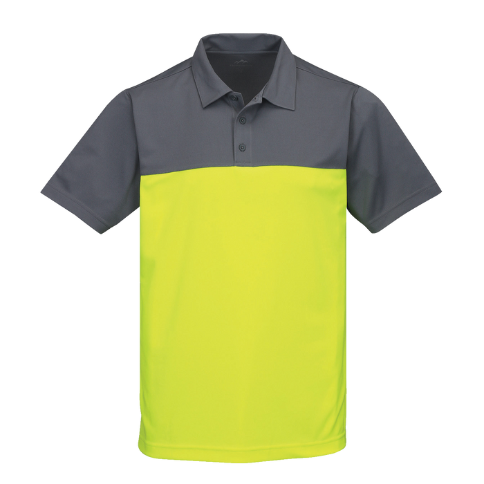 K017 Mens Dimension Yoke Colorblock Polo