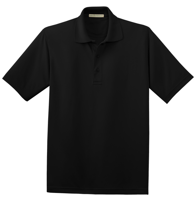 K497 Mens Poly-Charcoal Blend Pique Polo