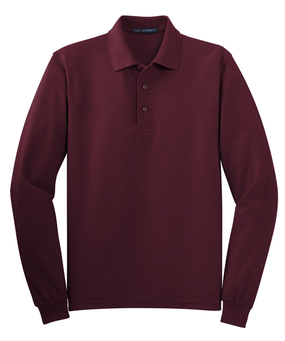 K500LS Mens Long Sleeve Silk Touch Polo
