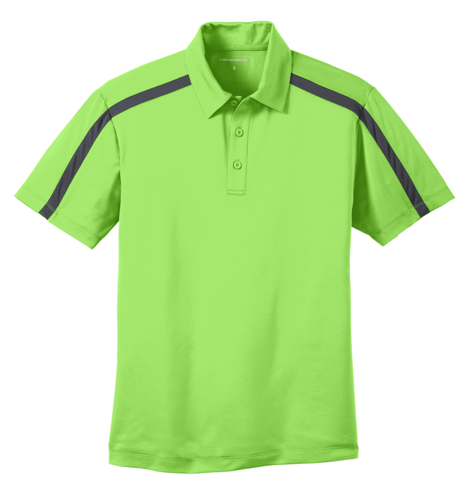 K547 Mens Silk Touch Performance Colorblock Stripe Polo