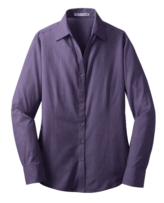 L640 Ladies Crosshatch Easy Care Shirt