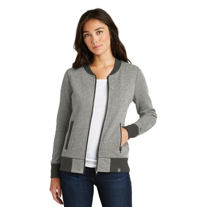 LNEA503 Ladies French Terry Baseball Jacket