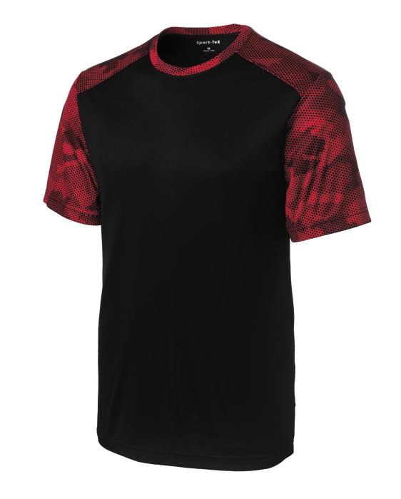 ST371 Mens CamoHex Colorblock Tee