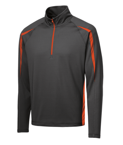ST851 Mens Sport-Wick Stretch 1/2  Zip Colorblock Pullover