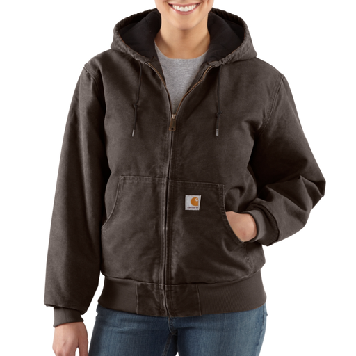 WL130 Ladies Quilted Flannel Lined Sandstone Active Jacket