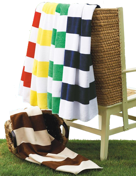 CS21 Horizontal Cabana Stripe Beach Towel