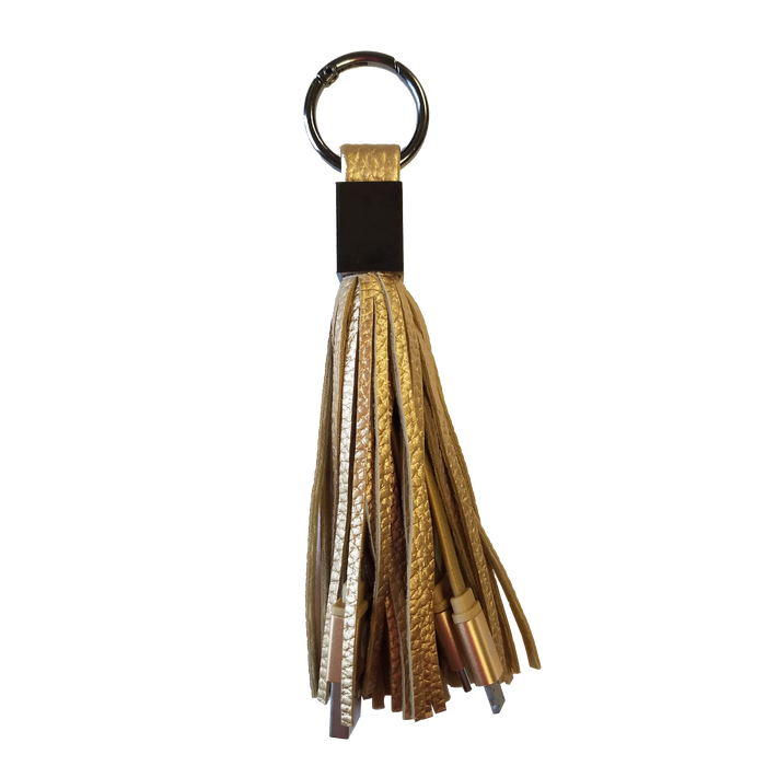 CPP-4586 Tassel 2-in-1 Cable Keyring