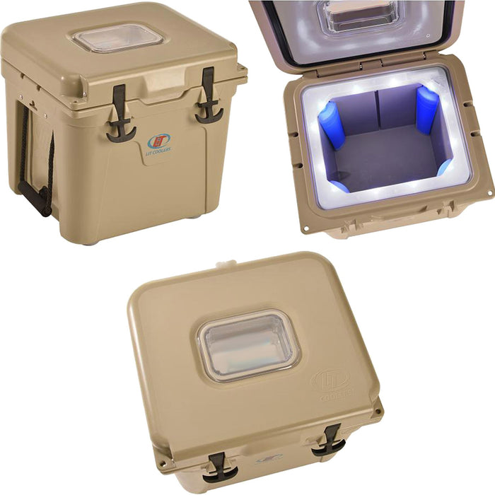 Rechargeable LED Cooler with Ice Packs