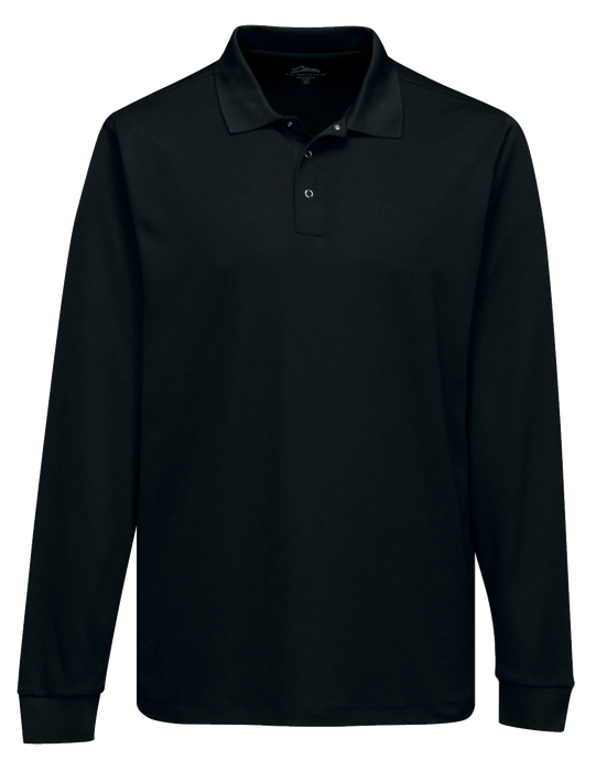 K022LS Mens Vital Long Sleeve Snap Polo