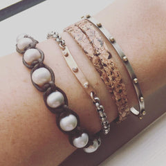 layered bracelets for fall
