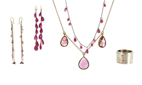 spring pink jewelry