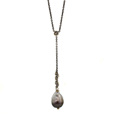 Pearl & Sapphire Necklace