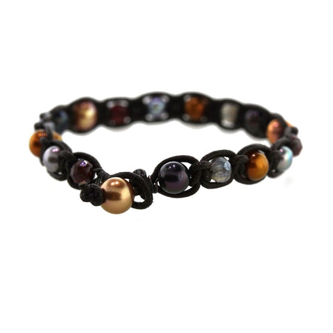 Gemstone & Pearl Bracelet - Rebecca Lankford Designs