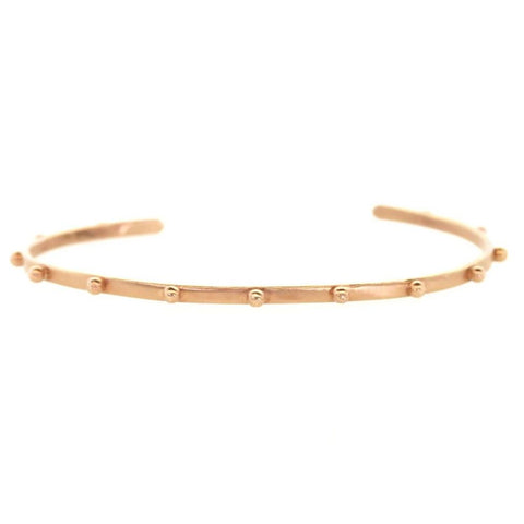Thin Rose Gold Stud Cuff