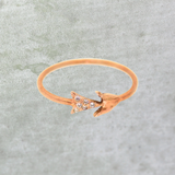 Rose Gold & Diamond Arrow Ring