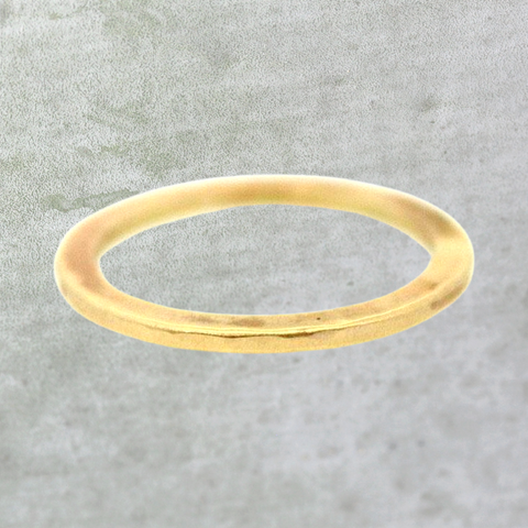 Gold Flat & Textured Ring