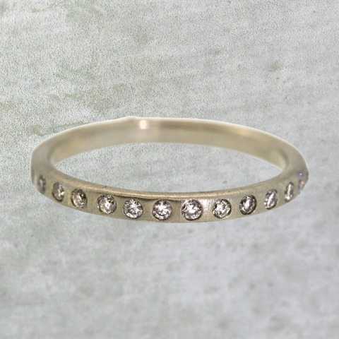 Inlaid Diamond Eternity Band
