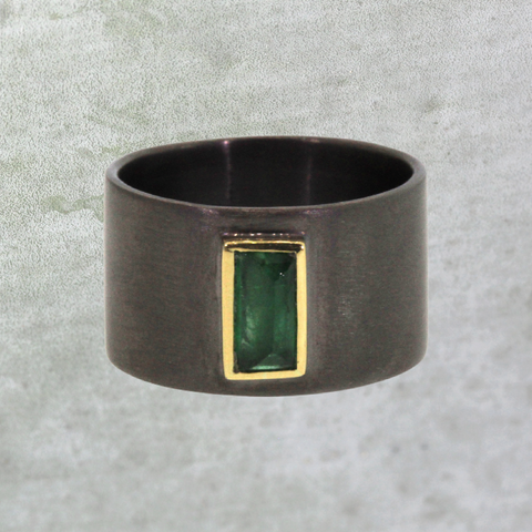 Chunky Emerald Ring