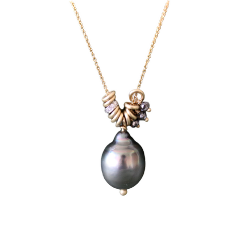 Tahitian Pearl Charm Necklace