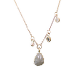 Pear Shaped Diamond Dangle Necklace