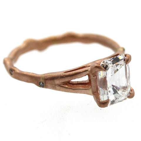rose gold engagement ring, wedding ring, rose gold ring, rebecca lankford designs