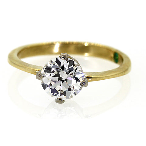 solitaire diamond engagement ring, handmade engagement ring, diamond ring, rebecca lankford designs
