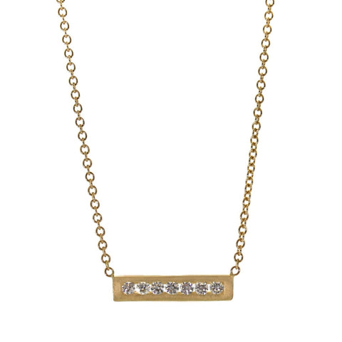Extended Diamond Brick Necklace