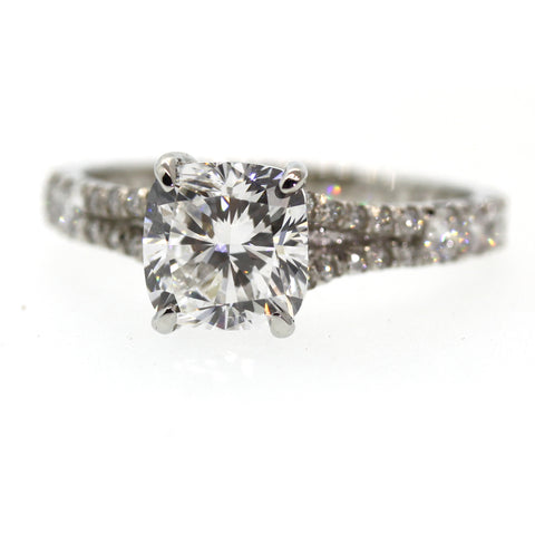 Graduating Diamond Engagement Ring