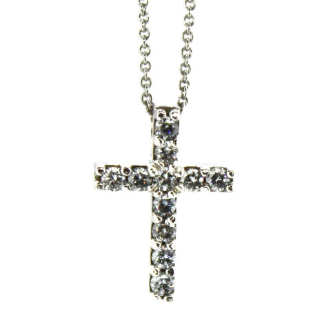 11 Diamond Cross Necklace
