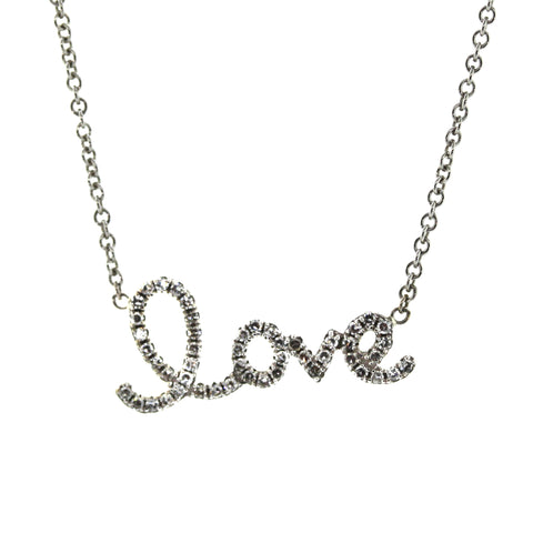 cursive diamond love necklace - Rebecca Lankford Designs - Houston, TX