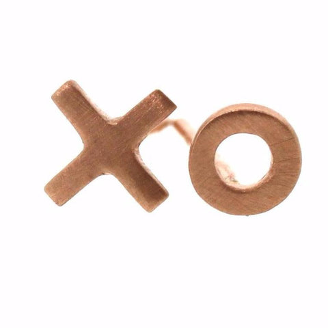 "Rose ""XO"" Stud Earrings"