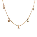 Dainty Rose Gold Diamond Necklace