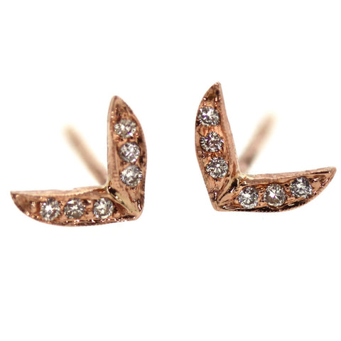 Angel Wing Stud Earrings -Rebecca Lankford Designs - Houston, TX