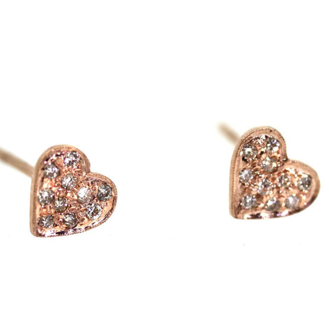 Custom Diamond Heart Stud Earrings - Houston, Texas