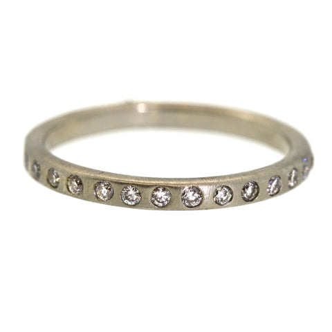 Inlaid Diamond Eternity Band - Rebecca Lankford Designs - Houston, TX